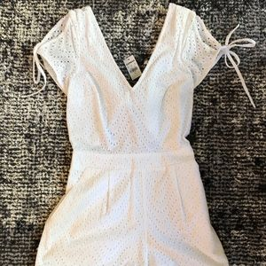 Express white lace romper